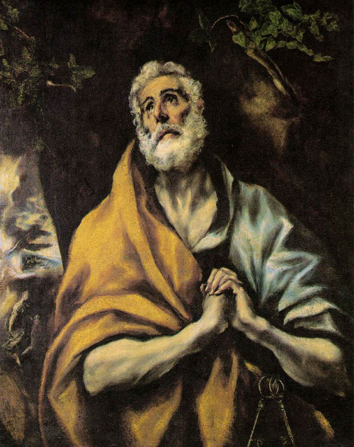 The Repentant Peter 1600 | El Greco | Oil Painting