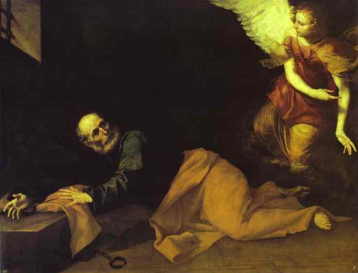 The Deliverance Of St Peter 1639 | Jusepe De Ribera | Oil Painting