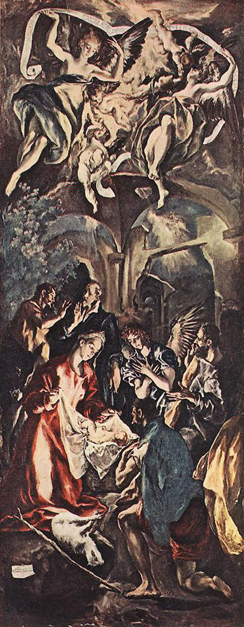 Adoration of the Shepherds 1596 1600 | El Greco | Oil Painting
