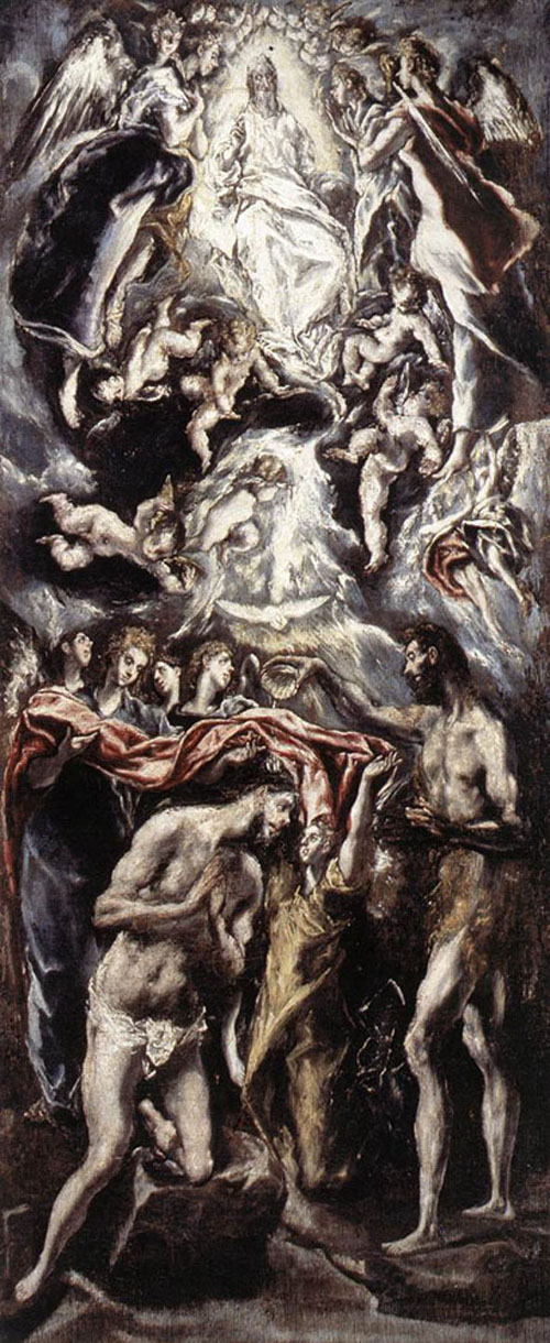 Baptism of Christ 1596 1600 | El Greco | Oil Painting