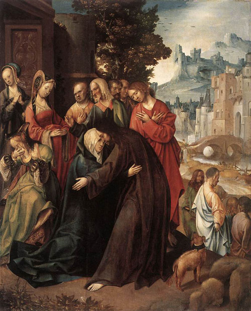 Christ Taking Leave of his Mother 1515 | Cornelis Engelbrechtsz | Oil Painting