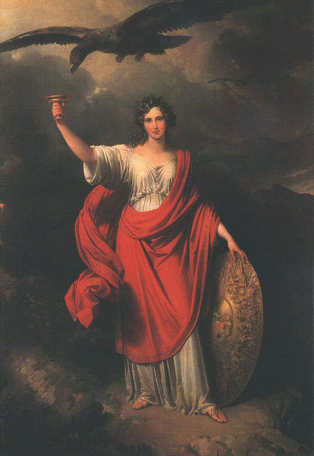 Allegory of the Hungarian Academy of Sciences 1831 | Johann Nepomuk Ender | Oil Painting