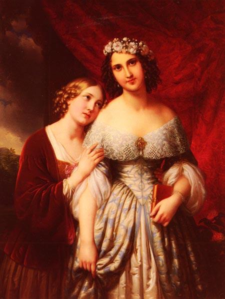 Die Madchen 1846 | Johann Nepomuk Ender | Oil Painting
