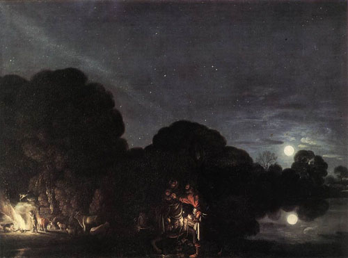 Flight into Egypt 1609 | Adam Elsheimer | Oil Painting