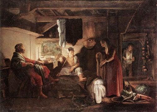 Jupiter and Mercury at Philemon and Baucis 1609 1610 | Adam Elsheimer | Oil Painting