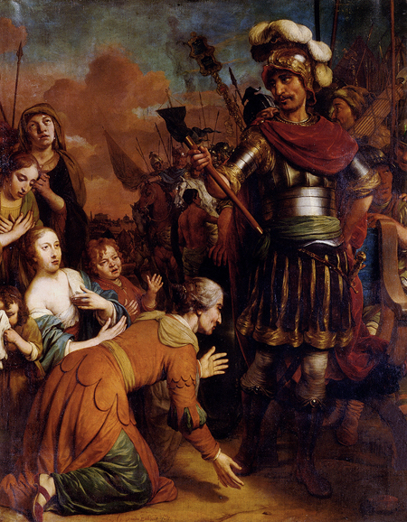 Volumnia Pleading With Her Son Coriolanus To Spare Rome 1674 | Gerbrand van den Eeckhout | Oil Painting