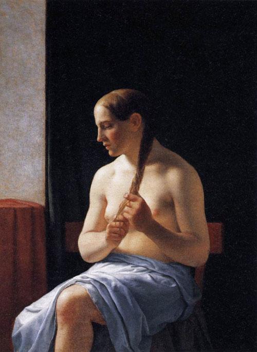 Seated Nude Model 1839 | Christoffer Wilhelm Eckersberg | Oil Painting