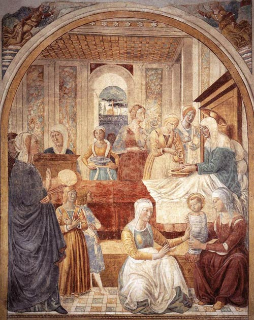 Birth of Mary 1491 | Benozzo di Lese di Sandro Gozzoli | Oil Painting
