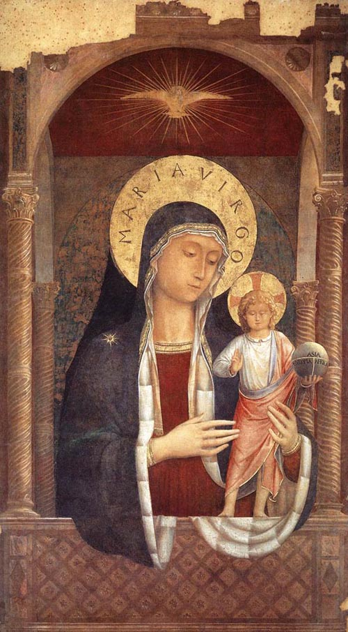 Madonna and Child Giving Blessings 1449 | Benozzo di Lese di Sandro Gozzoli | Oil Painting