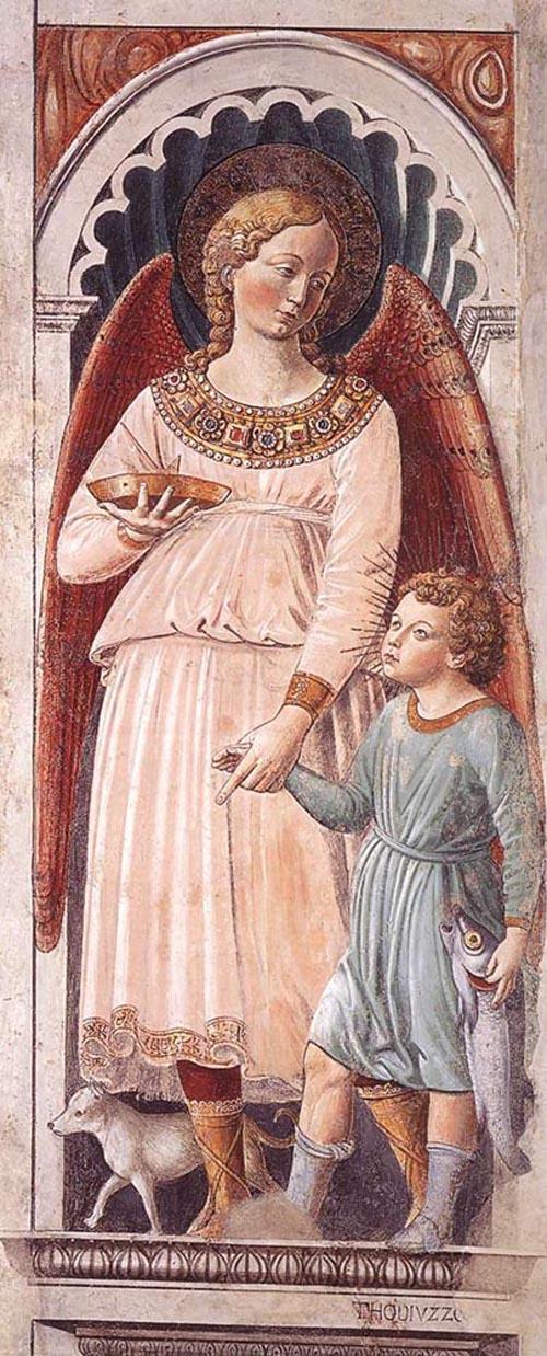 Raphael and Tobias 1464 1465 | Benozzo di Lese di Sandro Gozzoli | Oil Painting