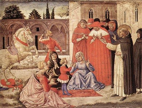 St Dominic Reuscitates Napoleone Orsini 1461 | Benozzo di Lese di Sandro Gozzoli | Oil Painting