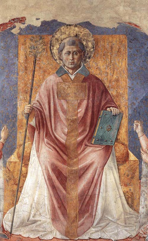 St Fortunatus Enthroned 1450 | Benozzo di Lese di Sandro Gozzoli | Oil Painting