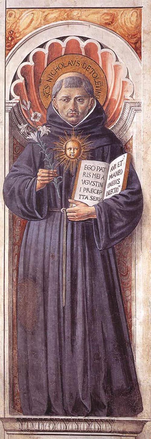 St Nicholas of Tolentino 1464 1465 | Benozzo di Lese di Sandro Gozzoli | Oil Painting