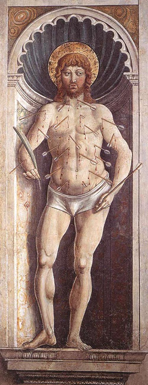 St Sebastian 1464 1465 | Benozzo di Lese di Sandro Gozzoli | Oil Painting