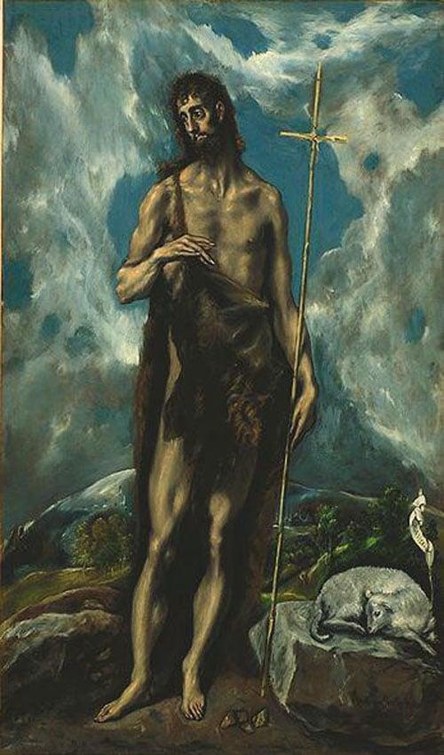 St John the Baptist 1600 | El Greco | Oil Painting