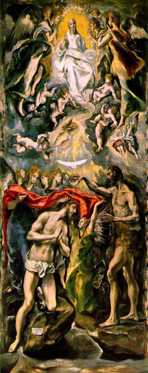 The Baptism 1596 1600 | El Greco | Oil Painting