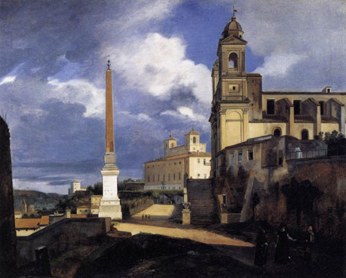 S Trinita dei Monti and the Villa Medici Rome 1808 | Fran_ois Marius Granet | Oil Painting