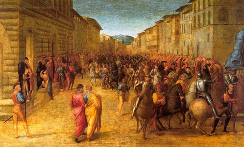 Entry of Charles VIII into Florence 1518 | Francesco Granacci | Oil Painting