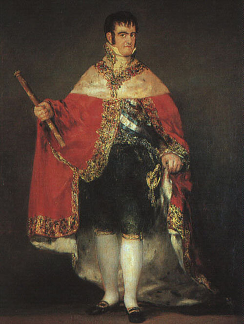 Ferdinand VII in his Robes of State 1814 | Francisco de Goya | Oil Painting