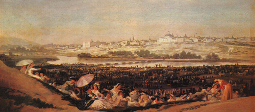 Festival at the Meadow of San Isadore 1788 | Francisco de Goya | Oil Painting