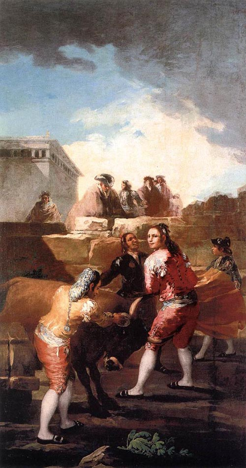 Fight with a Young Bull 1780 | Francisco de Goya | Oil Painting