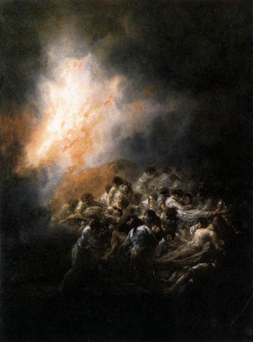Fire at Night 1793 1794 | Francisco de Goya | Oil Painting