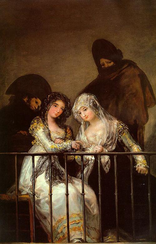 Majas on a Balcony | Francisco de Goya | Oil Painting