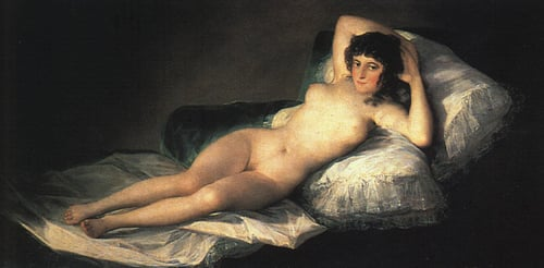 Nude Maja 1800 | Francisco de Goya | Oil Painting