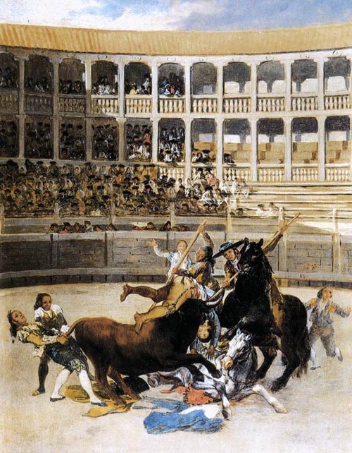 Picador Caught by the Bull 1793 | Francisco de Goya | Oil Painting