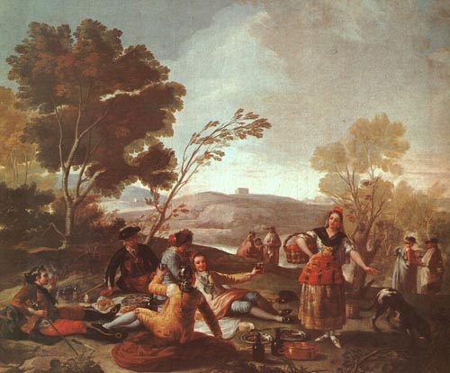 Picnic on the Banks of the Manzanares 1776 | Francisco de Goya | Oil Painting