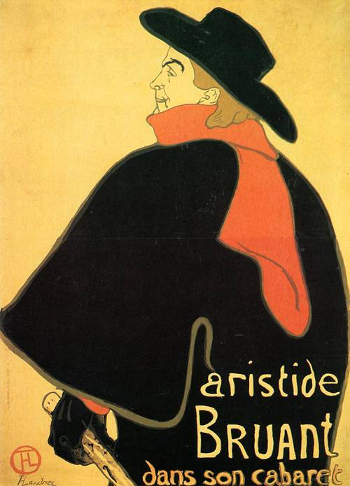 Aristede Bruand at His Cabared 1893 | Henri Toulouse Lautrec | Oil Painting