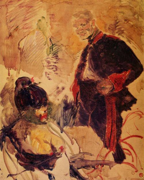 Artillerman and Girl 1886 | Henri Toulouse Lautrec | Oil Painting