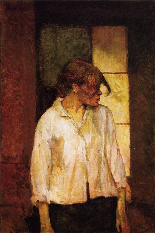 At Montrouge (aka Rosa la Rouge) 1886-1887 | Henri Toulouse Lautrec | Oil Painting