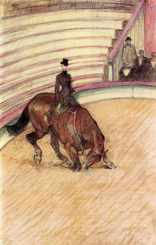 At the Circus Dressage 1899 | Henri Toulouse Lautrec | Oil Painting