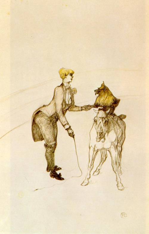 At the Circut The Animal Trainer 1899 | Henri Toulouse Lautrec | Oil Painting