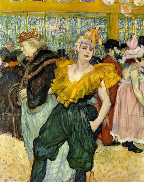 At the Moulin Rouge The Clowness Cha-U-Kao 1895 | Henri Toulouse Lautrec | Oil Painting