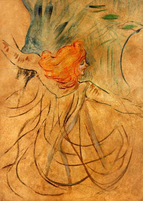 At the Music Hall-Loie Fuller 1892 | Henri Toulouse Lautrec | Oil Painting