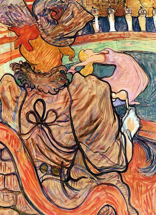 At the Nouveau Cirque the Dancer and Five Stuffed Shirts 1891 | Henri Toulouse Lautrec | Oil Painting