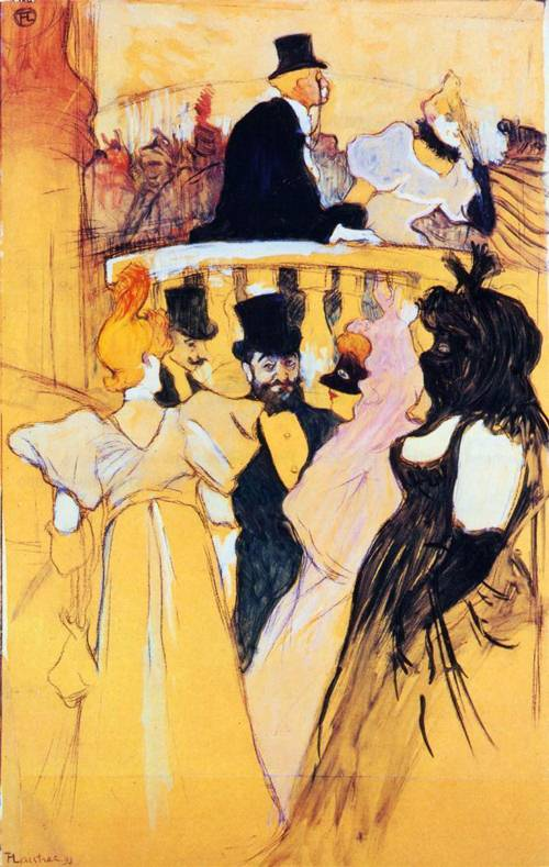 At the Opera Ball 1893 | Henri Toulouse Lautrec | Oil Painting