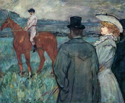 At the Races 1899 | Henri Toulouse Lautrec | Oil Painting
