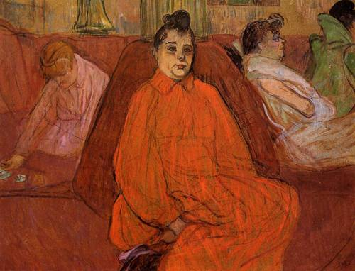 At the Salon the Divan 1893 | Henri Toulouse Lautrec | Oil Painting