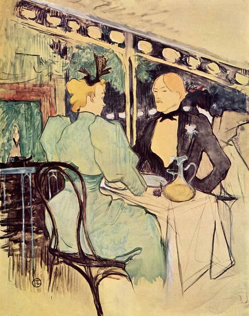 Aux Ambassadeurs Gens Chics 1893 | Henri Toulouse Lautrec | Oil Painting