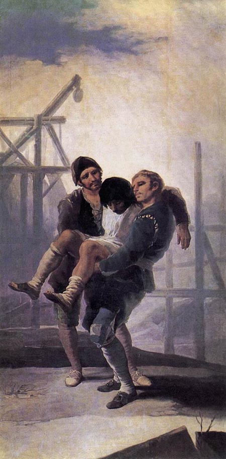 The Injured Mason 1786 1787 | Francisco de Goya | Oil Painting