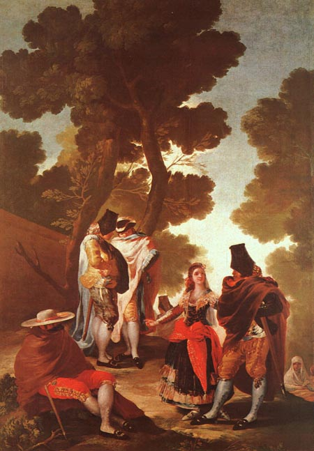 The Maja and the Masked Men 1777 | Francisco de Goya | Oil Painting