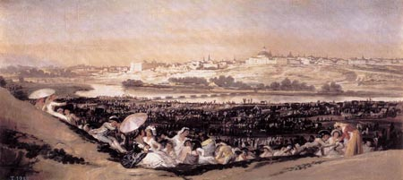 The Meadow of San Isidro on his Feast Day 1788   Francisco de Goya   Oil Painting