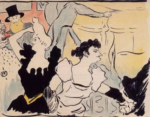 Au bal masue-les fetes parisiennes-nouveaux confetttis 1892 | Henri Toulouse Lautrec | Oil Painting