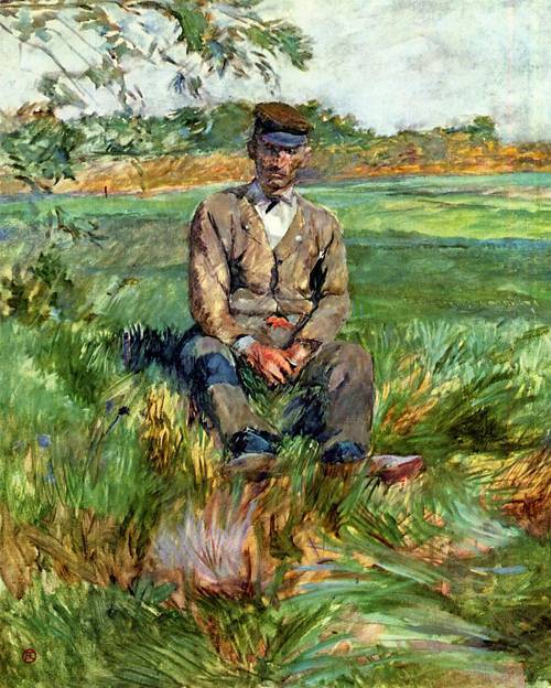 A Laborer at Celeyran 1882 | Henri Toulouse Lautrec | Oil Painting