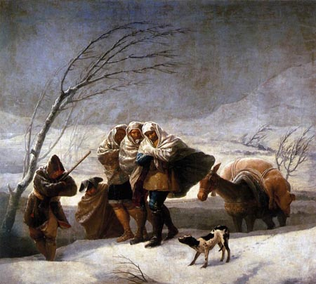 The Snowstorm 1786 1787 | Francisco de Goya | Oil Painting