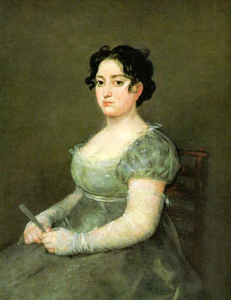 The Woman with a fan | Francisco de Goya | Oil Painting