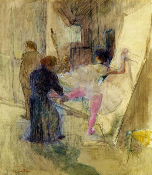 Bahind the Scenes 1898-1899 | Henri Toulouse Lautrec | Oil Painting